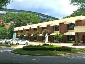 Just south of Turner Field, Our Lady of Perpetual Help Home provides care for all those with incurable cancer. Credit: Donita Pendered