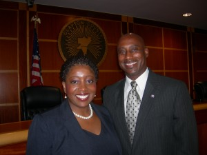 Standing strong: Shana Rooks and Jeff Turner