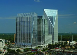 Cousins Properties says its Terminus office project is 95 percent leased, a rate that indicates the region's office market has rebounded. Credit: Cousins Properties