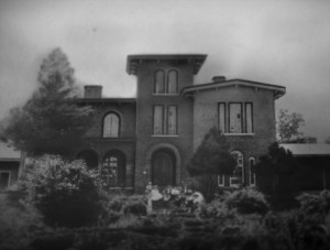 The Italianate-style house, called Woodlands, built in the 1850s at Barnsley Gardens, before it fell into disrepair.