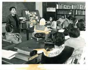 Dorothy Cotton, education director for SCLC during the 1960s, teaching as part of SCLC's Citizenship Education Program. Credit: Robert W. Woodruff Library, Emory University