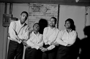 The Freedom Singers (l to r): Charles Neblett, Bernice Johnson Reagon, Cordell Reagon, Rutha Mae Harris