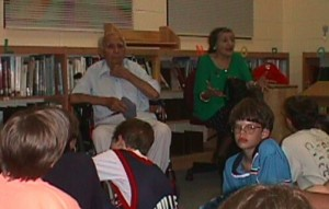 Papa and Mama talking to my daughter's class at Morningside Elementary about their experiences during World War II