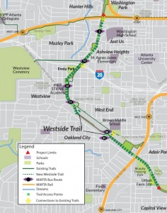 Map of the Atlanta BeltLine southwest corridor