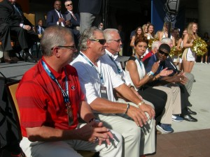 Hall of Famers are cheered on by the crowd