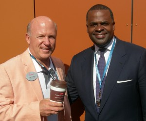 Dan Cathy of Chick-fil-A and Mayor Kasim Reed at opening of College Football Hall of Fame