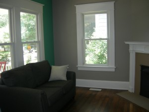 The front room of David's new house