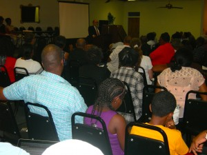 State Sen. Vincent Fort speaks to community gathering on Aug. 14 (Photos by Maria Saporta)