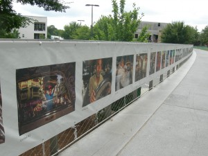 """Art along the """"The Fence"""" along the Eastside Trail of the Atlanta BeltLine (Photos by Maria Saporta)"""