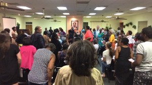 The turnout of more than 150 residents at a forum to discuss the future of Fort McPherson indicates the fort's neighbors have not grown weary, even after nine years of discussions. Credit: Donita Pendered