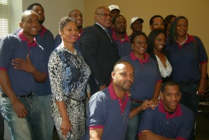 These individuals met the requirements to enter a Westside Works program and completed the coursework to earn their graduation earlier this year. File/Credit: Maria Saporta