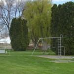 The cemetery playground.