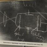 """At 14, Farnsworth made this drawing of the """"image dissector"""""""