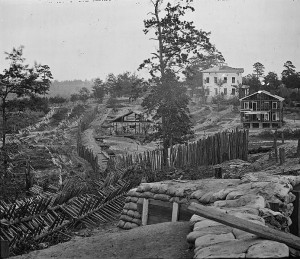 The surrender of Atlanta took place near this area. Mayor Calhoun and his delegation met the Federal troops on horseback.