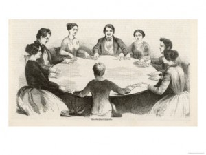 Seances and spiritualism were enormously popular in antebellum America. Credit: Religion in American History blog
