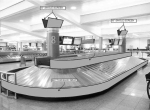 Passengers could read display advertising as they await their luggage, under a proposed advertising contract at Atlanta's airport. Credit: City of Atlanta