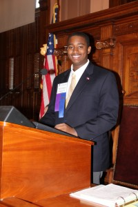 """Anthony Chatman, from West Laurens High School in Dublin, was the State Y's """"Speaker of the House"""" in 2013. Credit: State YMCA of Georgia"""