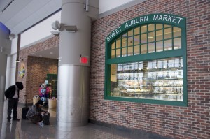 Advertising in the Maynard H. Jackson International Terminal will be expanded under a proposal to increase ad revenues at Atlanta's airport. Credit: Donita Pendered