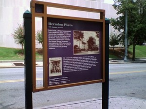 Atlanta's Urban Design Commission is slated to consider plans to improve wayfinding signs along Auburn Avenue. Credit: atlantadowntown.com