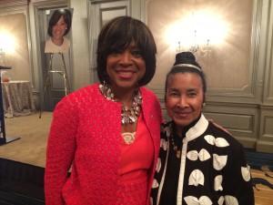 Valerie Montgomery Rice with Xernona Clayton (Photos by Maria Saporta)