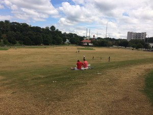 The meadow at Piedmont Park one week after the 2014 Music Midtown - a far cry from the situation in 2013
