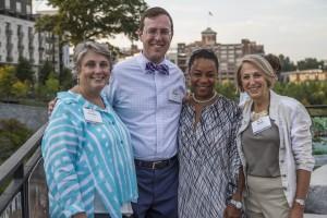 Left to right: Dorothy Yates Kirkley, Michael Halicki, Verna Jennings Cleveland and Sara Yates Sutherland (Special: Park Pride)