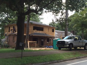 Home construction appears to be occurring at a steady pace in the Memorial Drive corridor. This unit is located a short distance from Memorial Drive, on Hosea Williams Drive. File/Credit: David Pendered