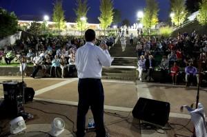 Michael Halicki talks at Picnic for Parks at Historic Fourth Ward Park