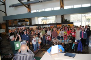 One hundred descendants of the Catherine Young family gathered in Tifton, along with Joe Manning, who researched the family's history. Credit: photo by Brenda Sutton Rose