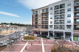 """As MARTA seeks to develop its Brookhaven Station, the city of Brookhaven is poised to adopt a long-range plan that commends a similar development, Town Brookhaven, as a, """"pedestrian friendly urban village."""" Credit: sembler.com"""