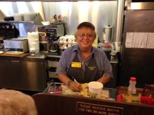 Elizabeth, friendly face at Waffle House