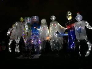 Dramatic figures bring magic to the Lantern Parade
