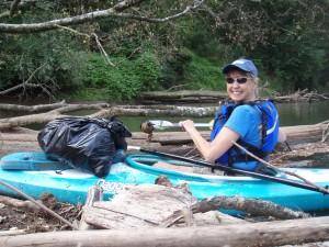 Sally Bethea on the Chattahoochee River