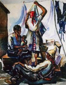 Washerwoman (1933) by Lamar Dodd. Credit: Lamar Dodd Art Center, LaGrange College