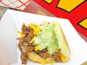 Arepas come in many flavors. (Credit: Wow! Food Truck)