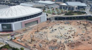 Less than 10 percent of residents who reside near the future Falcons stadium could pass tests to gain admission to a program to help them get construction jobs. Credit: newstadium.atlantafalcons.com