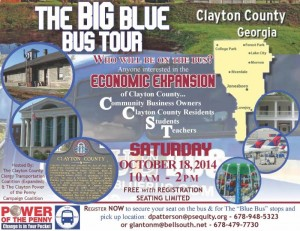 Flier for Clayton County bus tour to highlight economic opportunities once MARTA is approved