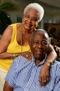 Billye and Henry 'Hank' Aaron (Photos by Byron Small, courtesy of the Atlanta Business Chronicle)