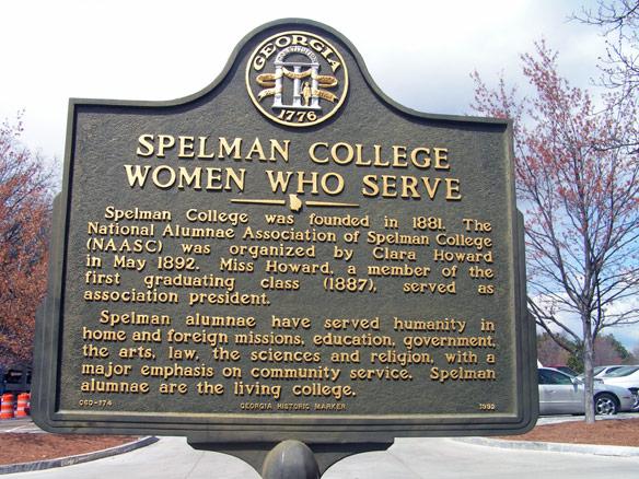 Historic marker of Spelman College:
