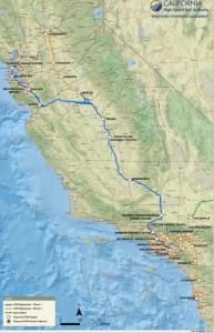 California high speed train map