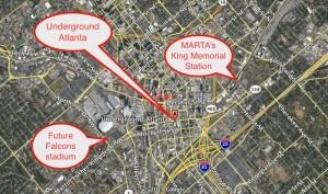 Underground Atlanta locator map
