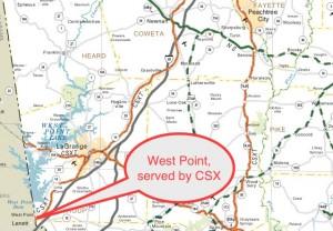 West Point CSX Transport