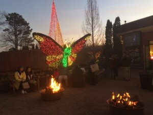Topiary butterfly with lights
