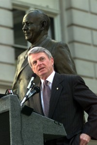 Zell Miller at the dedication of the Ellis Arnall statue at the Georgia State Capitol. Credit: Atlanta Journal-Constitution