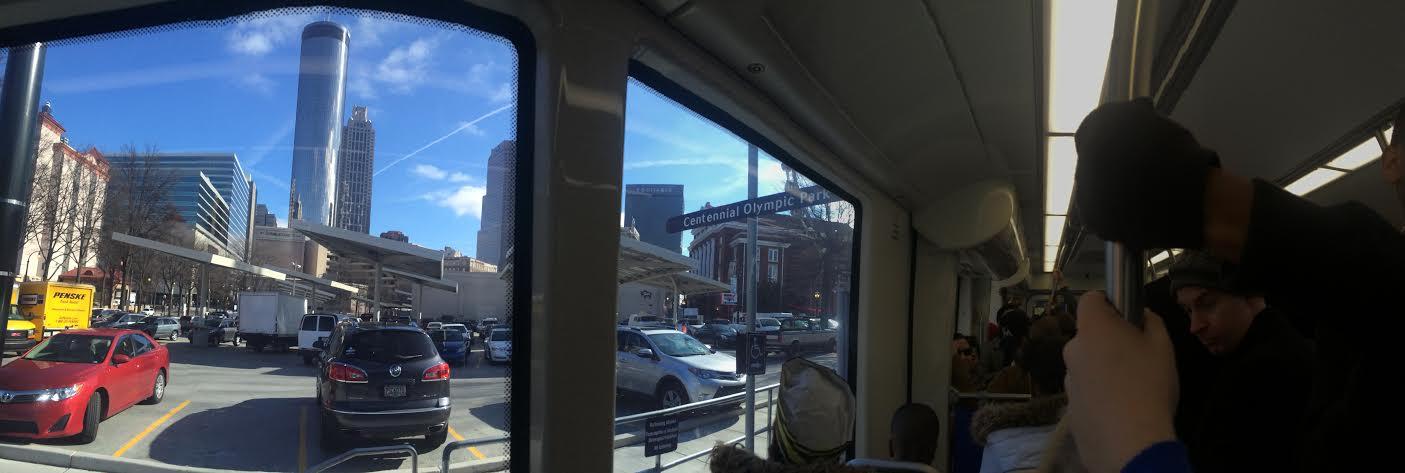Atlanta streetcar interior