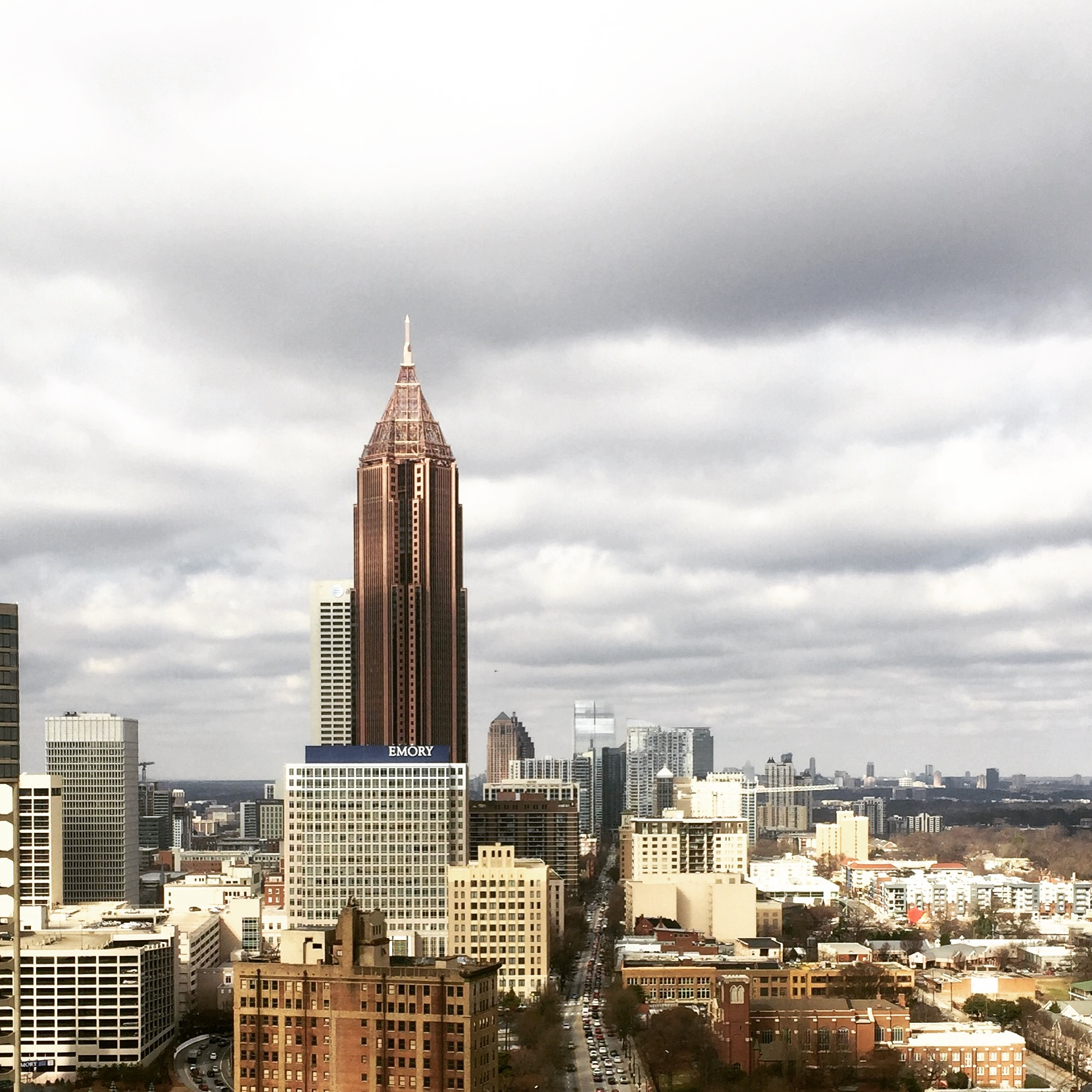 Midtown atlanta from downtown