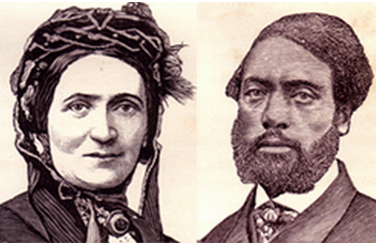 Ellen and William Craft, escaped slaves, lived in Boston and England before returning to Georgia in 1870.