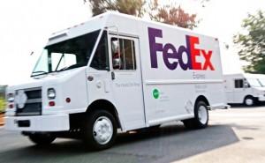 FedEx truck, hydrogen powered
