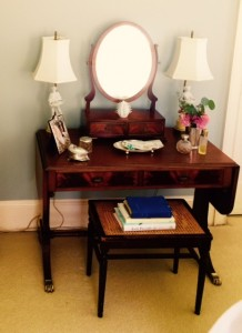 A dressing table in the Glenn Nix home serves as a place of strength, prayer and memories.