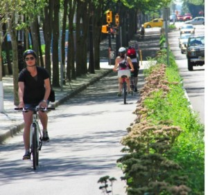 Georgia needs the flexibility to meet the  growing demand for bicycle and pedestrian  trails alongside roadways (Credit: Smart Growth America)